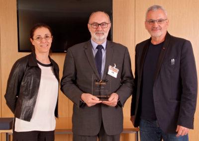 Laëtitia OLIVIER (FDJ) - Pierre YOU (Président de la FFME) - Philippe BANA (ASDTN)