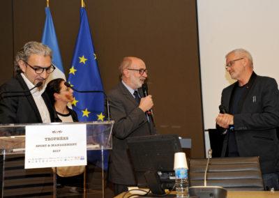 Laurent JAOUI - Laëtitia OLIVIER (FDJ) - Pierre YOU (Président de la FFME) - Philippe BANA (ASDTN)