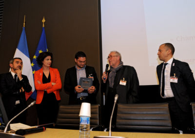 Mathieu ROSY (UNIMEV) - Dominique CARLACH (MEDEF) - Yannick LE CLEAC'H - Anthony PINON - Djamel CHEIKH (CREPS Bourges) 1