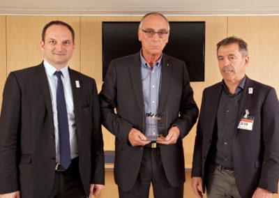 Régis JUANICO (Député de La Loire) - Joël DELPLANQUE (FF Handball) - Pierre BERBIZIER (Président du Jury)
