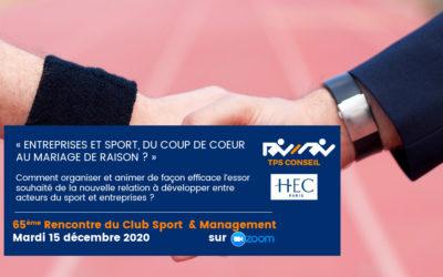 65ème Rencontre du Club Sport & Management
