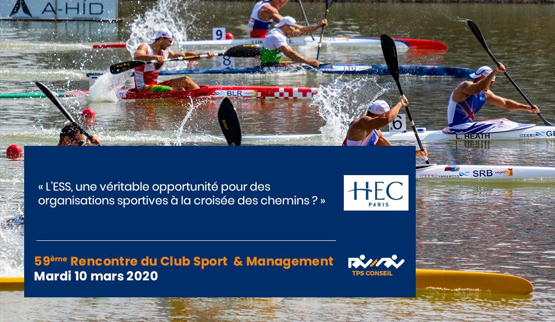 59ème Rencontre du Club Sport & Management