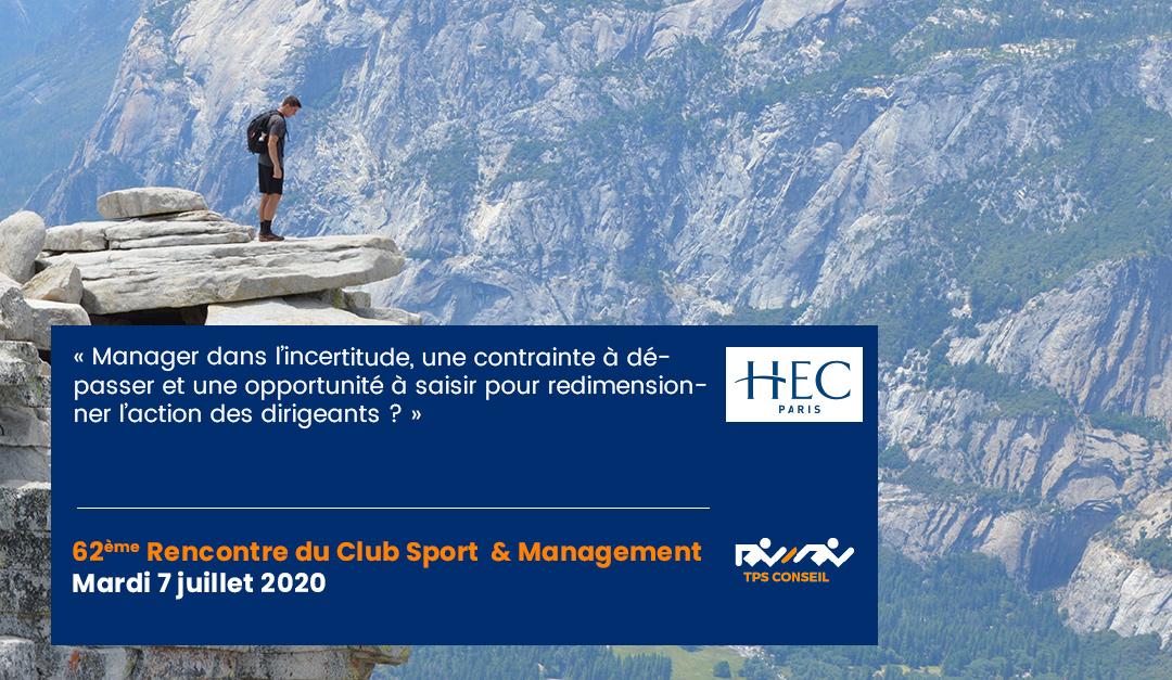 62ème Rencontre du Club Sport & Management