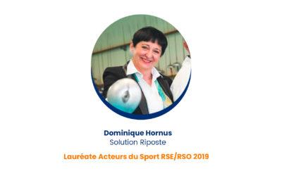 Dominique Hornus – Lauréate Acteurs du Sport RSE/RSO 2019
